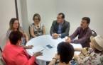Presidentes dos Regionais que participam da exposição itinerante em reunião com a diretoria do Munean