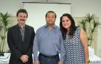 Dr Osvaldo Albuquerque Sousa Filho, presidente do Coren-CE, Dr Manoel Carlos Neri, Presidente do Cofen e Dra Mirna Frota, Conselheira Federal do Ceará